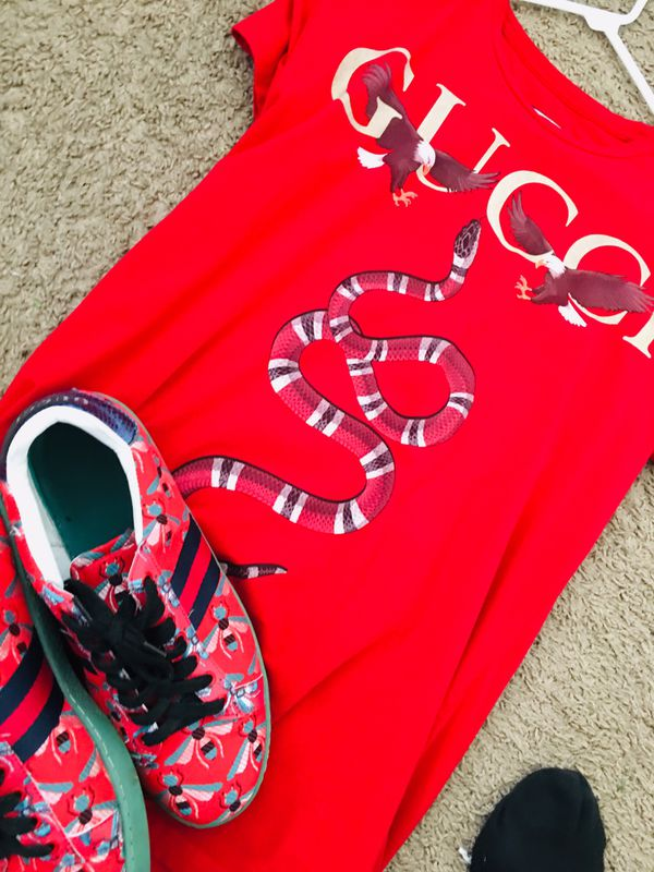 4f39d4ef4d6 Gucci sneakers And Large Gucci Shirt 150 for Sale in Melbourne