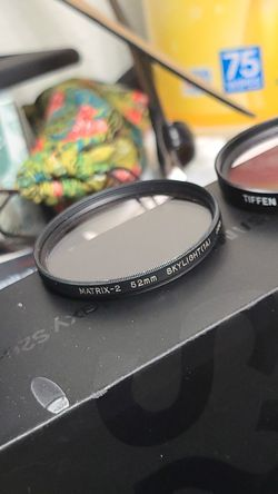 2 52mm DSLR lens filters Matrix-2 & Tiffen Thumbnail