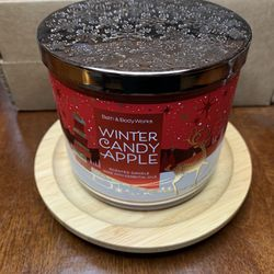 BATH & BODY WORKS WINTER CANDY APPLE 3 Wick Candle Thumbnail
