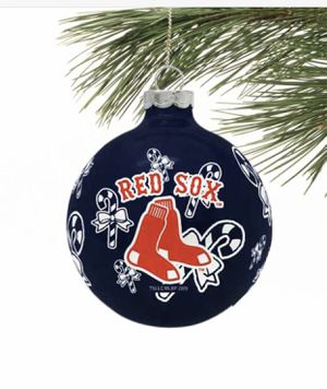 Photo Boston Red Sox Traditional Glass Ball Ornament