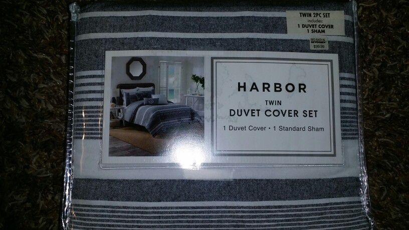 Harbor Twin 2 pc Duvet Cover set Bed Bath & Beyond