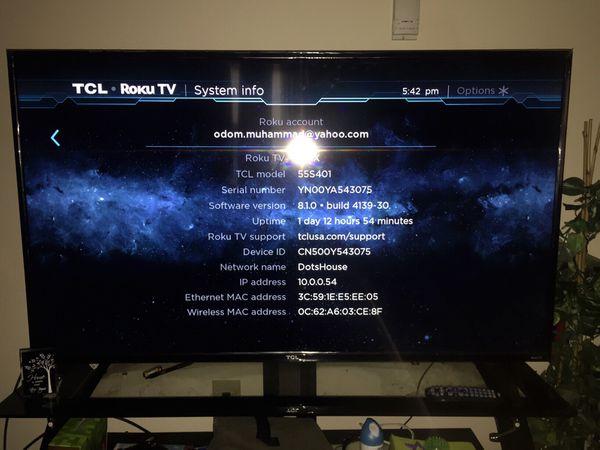 TCL RoKu TV 55 Inch for Sale in Petersburg, VA - OfferUp