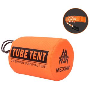 194. Mezonn PE Emergency Shelter Survival Tent – 2-4 Person Mylar Emergency Tube Tent, Includes Whistle with Reflective Lanyard, All Weather Protecti for Sale in San Diego, CA