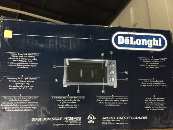DeLonghi Toaster Oven with Broiler for Sale in Fremont, CA - OfferUp