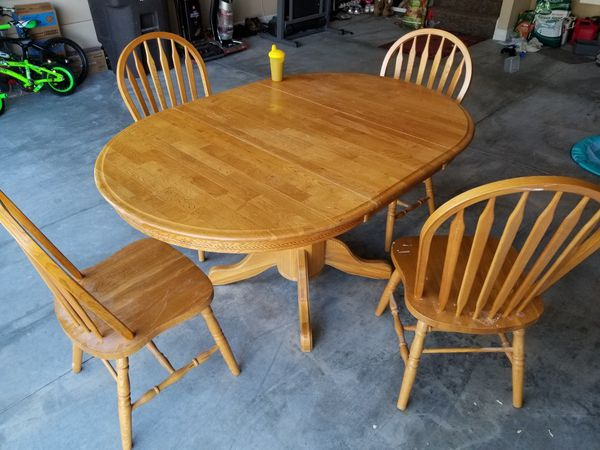 5 Piece Oak Dining Set Fort Wayne