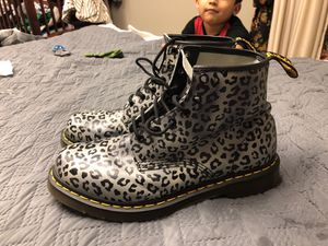 Grey leopard print doctor martins boots size 11 for Sale in Inwood, WV