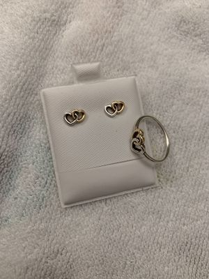 93012bde8 Pandora authentic heart to heart ring & earrings for Sale in Pembroke  Pines, ...