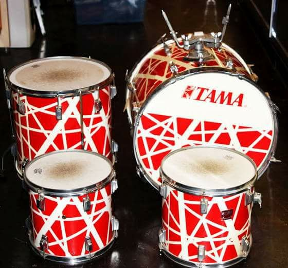 Vintage Tama Swingstar 1984 Alex Van Halen Red White 4 Pc Drum Kit For Sale In Independence Mo Offerup