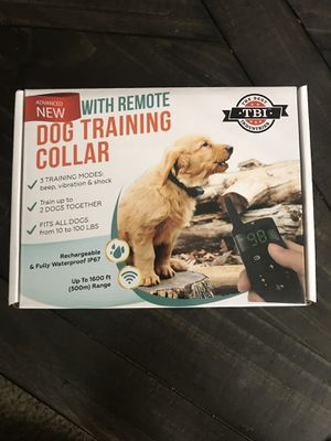 All-New 2019 Dog Training Collar with Remote   Long Range 1600 ft, Shock, Vibration Control, Rechargeable & IPX7 Waterproof   E-Collar Shock Collar f for Sale in Sunnyvale, CA