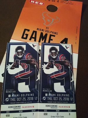 Texans vs Dolphins for Sale in Houston, TX