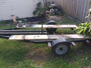 Photo All galvanized trailer new lights set up for hauling ATV Orca boarded back to boat trailer with cradles and rollers