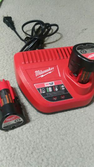 milwaukee battery 12v and charger new for Sale in Adelphi, MD