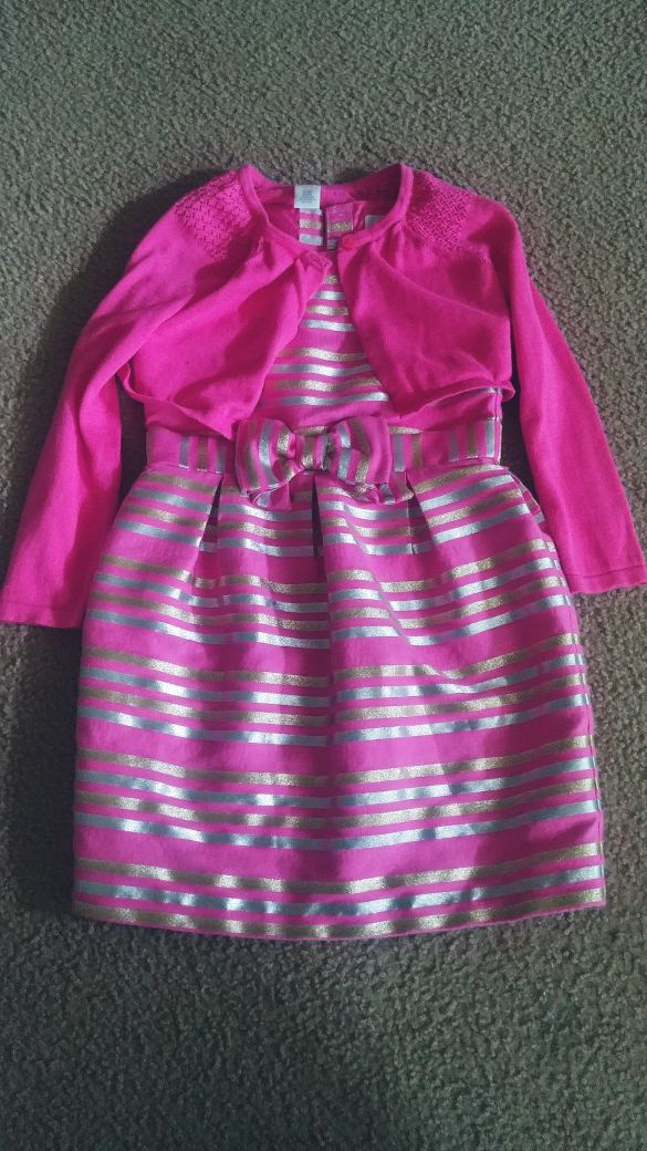 70675f7b5e49 Girls clothes Easter dress and cardigan for Sale in Salem, OR - OfferUp