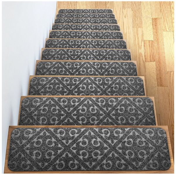 Dog Tears Up Rug: Carpet Stair Treads Set Of 13 Non Slip / Skid Rubber