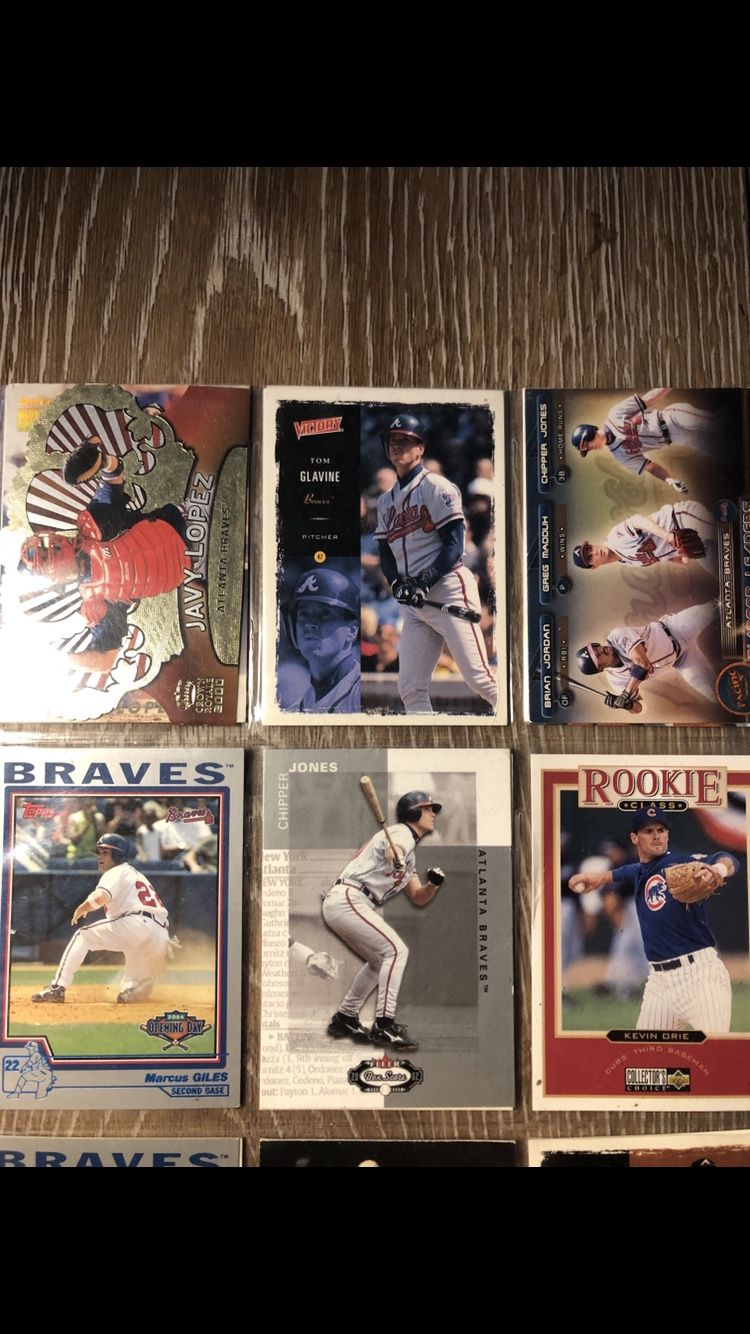 I have basically the whole late 90s to early 2000 ATLANTA BRAVES baseball cards it wouldnt let me post all of them