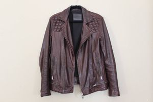 Conroy Oxblood Burgundy Leather Biker Jacket Moto for Sale in Alexandria, VA