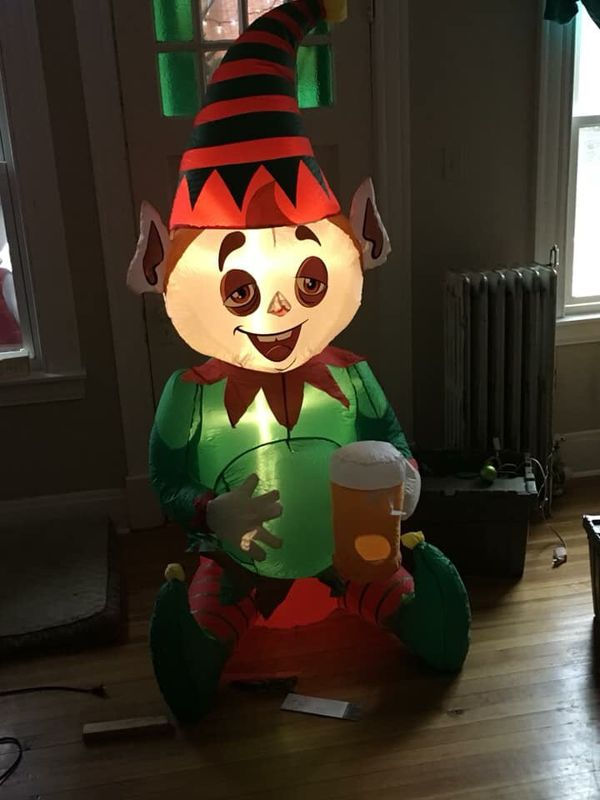 6ft Airblown Inflatable Drunk Elf Christmas Blow Up For