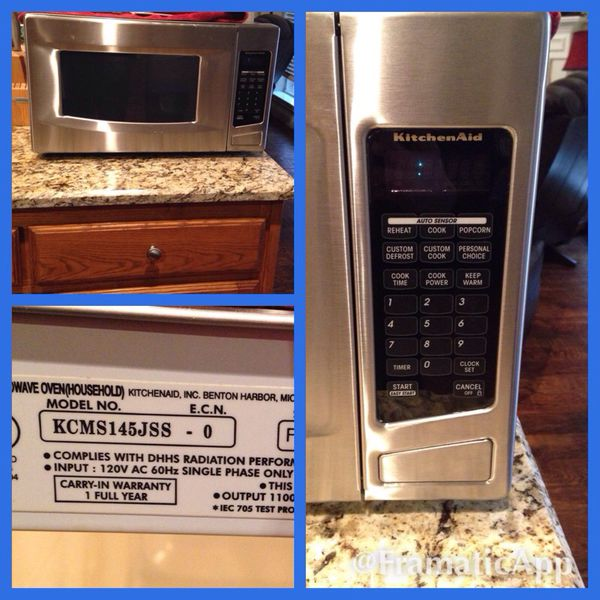 Kitchen Aid Countertop Or Built In Microwave Model
