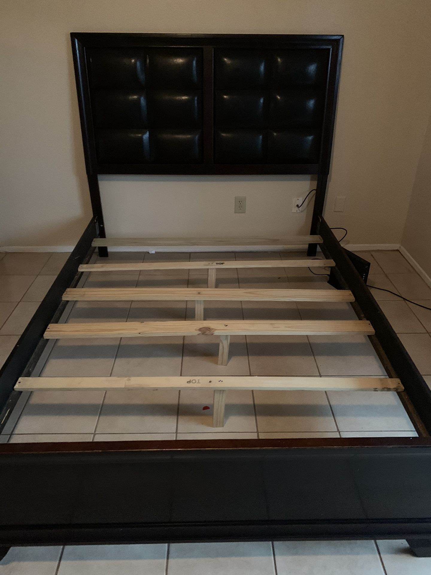 Queen Bed With Bed Base New