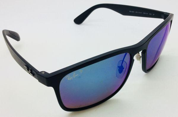 f1d8b2cafe501 ray-ban chromance rb 4264 matte black sunglasses blue flach polarized