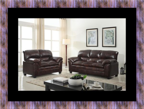 Burgundy sofa and loveseat for Sale in Woodlawn, MD - OfferUp