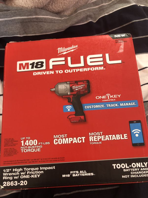 Ring Milwaukee M18 FUEL ONE-KEY 2863-20 Lithium-Ion Brushless Cordless 1//2 in