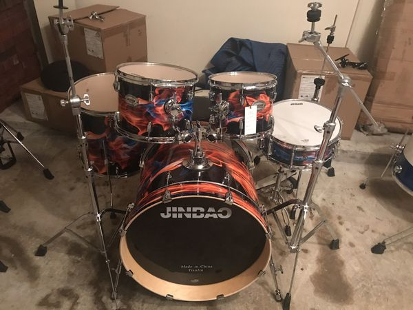 5pc Drum Frame Lacquer Finish With Heavy Duty Hardware For