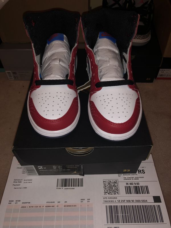 0b60e849ffa5 Jordan 1 Retro High OG (PS) Size 2Y Spider-Man Origin Story for Sale ...