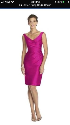 Alfred Sung D644 Cerise Bridesmaid Dress size 10 for Sale in San Francisco, CA
