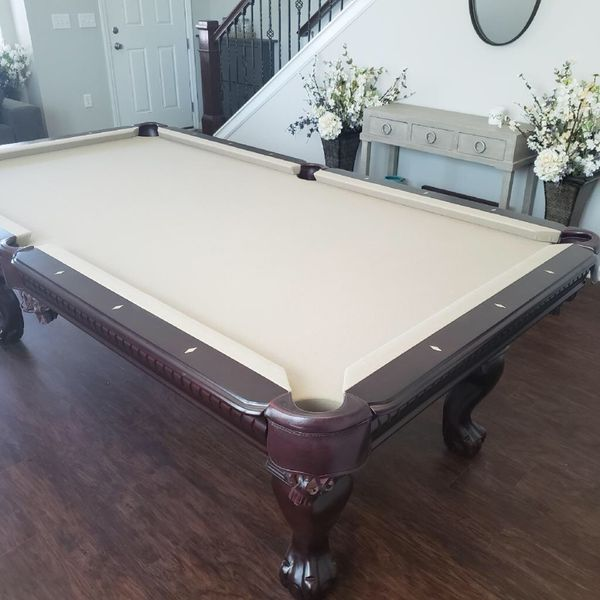 Dutchess Traditional Mahogany Pool Table With Pool Cue Wall Rack - Pool table jacksonville fl