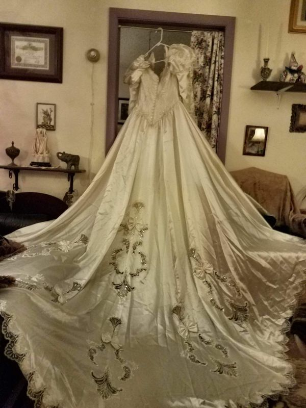 Wedding Dress Under Slip With Cathedral Train For Sale In Pueblo