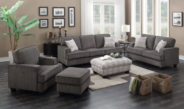 Dark Grey Chenille Sofa Set for Sale in Corvallis, OR - OfferUp