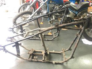 Photo Knucklehead Panhead frames rigid frames Harley Davidson motorcycle frames OEM