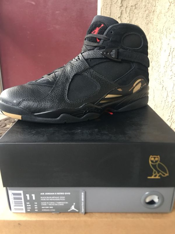 76bcd6949f9 DS Jordan Retro 8 OVO Black Size 11 for Sale in San Gabriel, CA ...