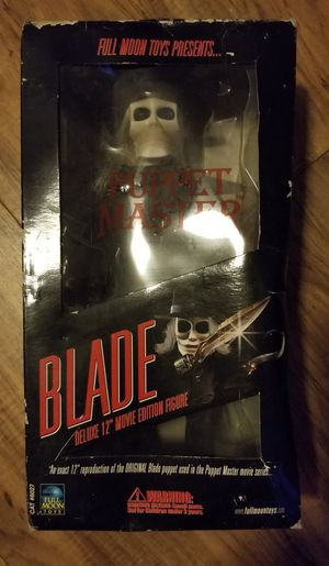 """PUPPET MASTER """" Blade"""" deluxe 12"""" inch movie figurine w/ full DVD collection for Sale in Polk City, FL"""