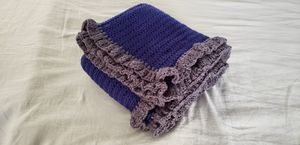 Blue/ gray crochet blanket for Sale in Moreno Valley, CA