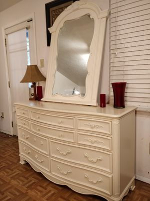 "Nice solid wood dresser with 10 drawers and mirror in very good condition, all drawers sliding smoothly. L58""*W19.2""*H33"" for Sale in Annandale, VA"