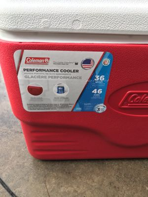 Red Rubbermaid Never Been used cooler for Sale in Marina del Rey, CA