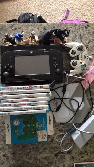 Wii U and controllers and games for Sale in Ashburn, VA