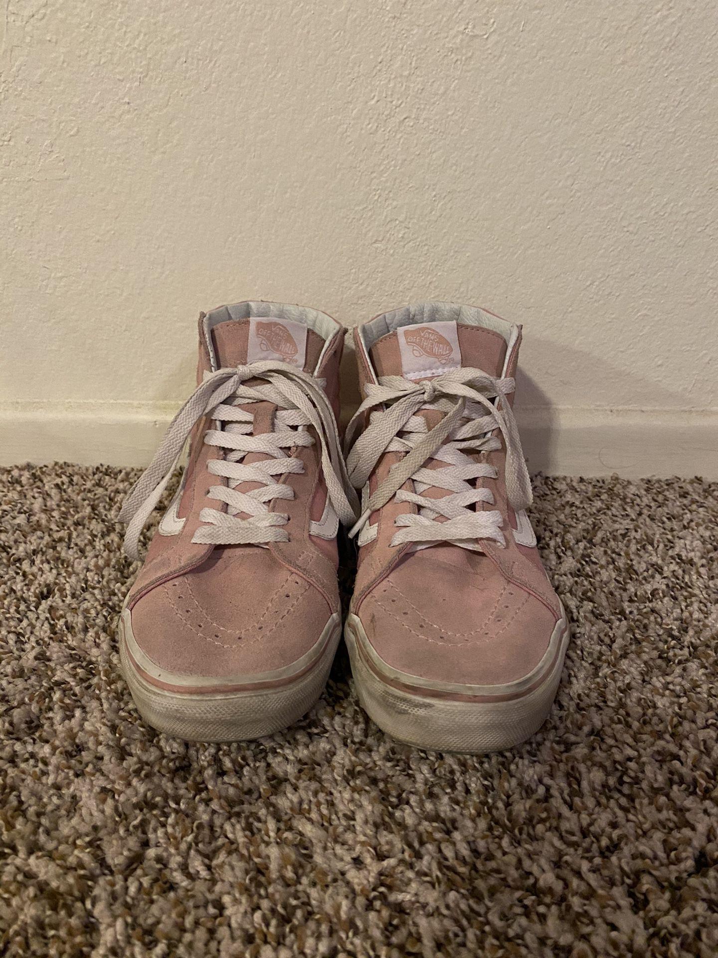 Pink vans high top shoes size men's 7.5