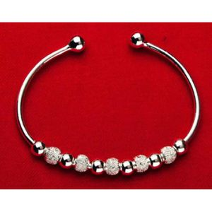 Silver beads charm textured bracelet cuff bangle women's jewelry accessory Christmas gift for Sale in Silver Spring, MD