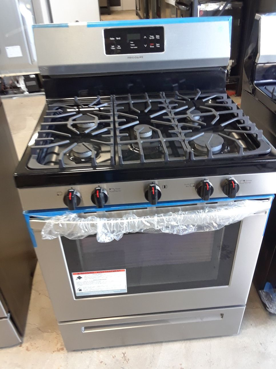 OPEN BOX STOVE STAINLESS STEEL