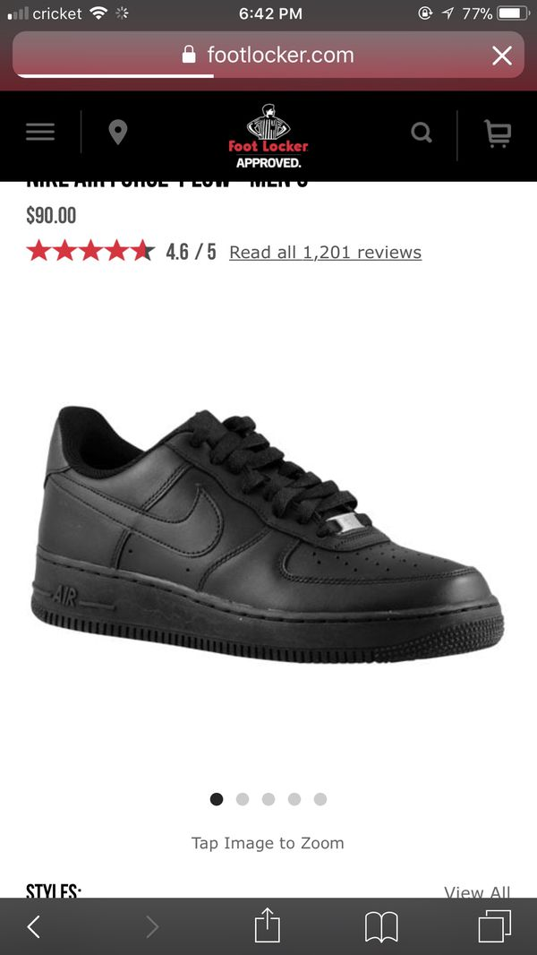 black air force 1 size 6