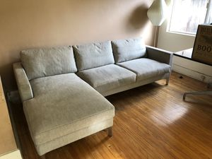 Eilersen Modern European Sectional Sofa / Couch - Light Grey for Sale in West Hollywood, CA