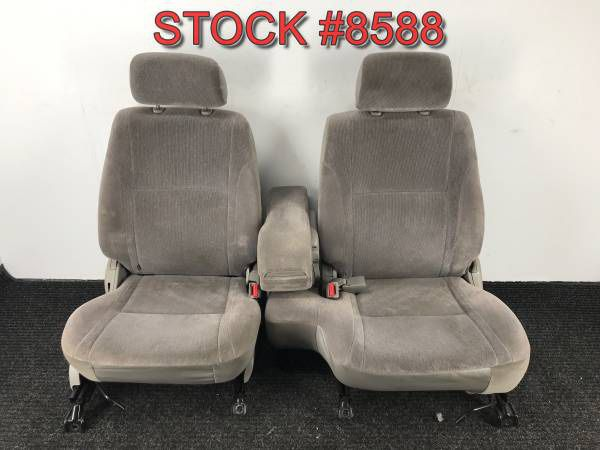 Used Toyota Tacoma Trucks For Sale >> 2004 Toyota Tacoma Gray Cloth Front 60/40 Bucket Bench Seats Seat Stock #8588 for Sale in ...
