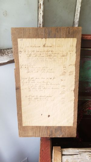 Photo An antique ledger account from a general store in New Market,Tennessee