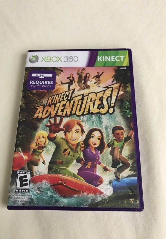 kinect adventures for xbox 360! used 2 only