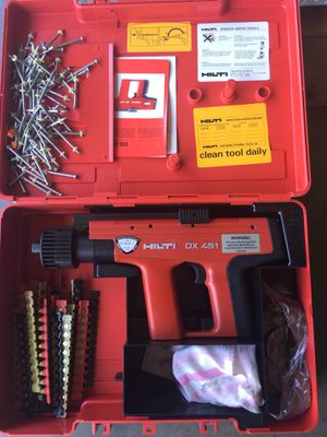 Hilti nail gun with powder and nails for Sale in Orlando, FL