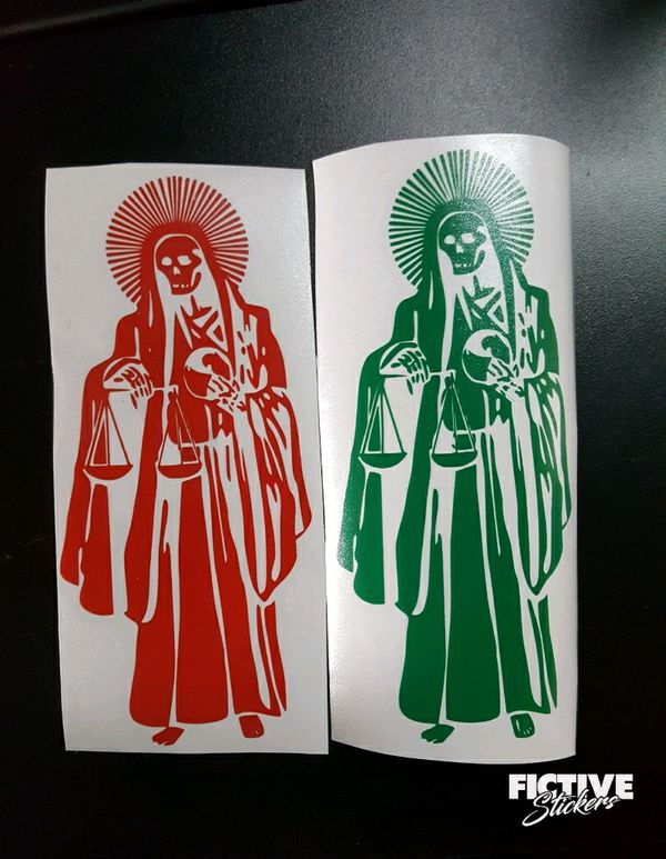 Santa Muerte Sticker Decals Calcomanias For Sale In Inglewood Ca