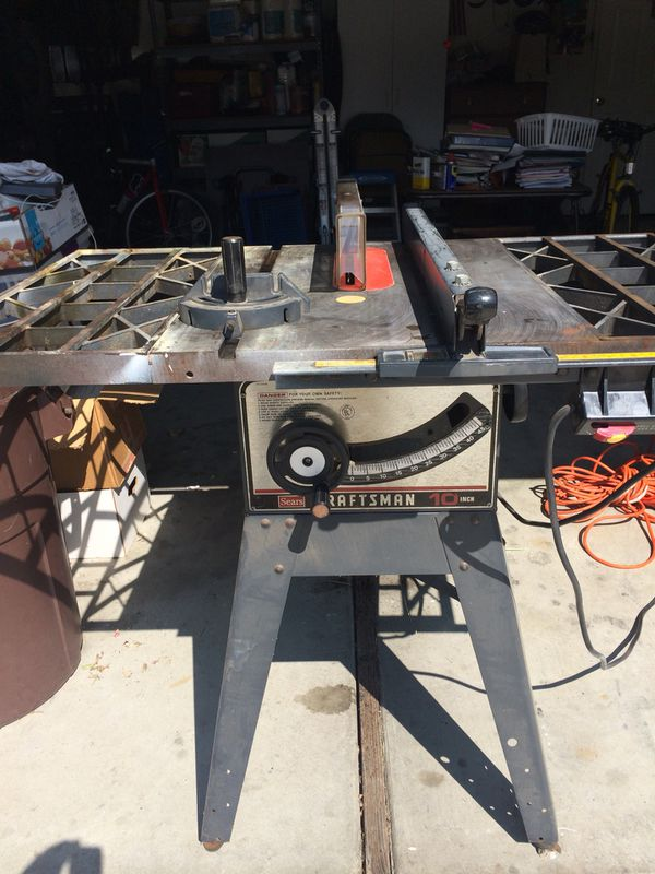 Table saw craftsman 10 1hp for sale in dublin ca offerup greentooth Gallery